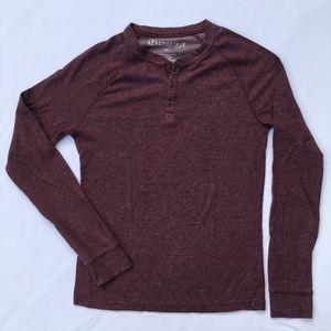 Aeropostale men's henley ribbed t-shirt, size S